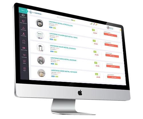 Macentrale.fr Aperçu de l'interface de gestion de produit achat du logiciel Macentrale.fr pour une centrale - acheteur et fournisseur - Gestion de produits et achats - Centrale - Achat - Fournisseur - pour ma CentraleFr -