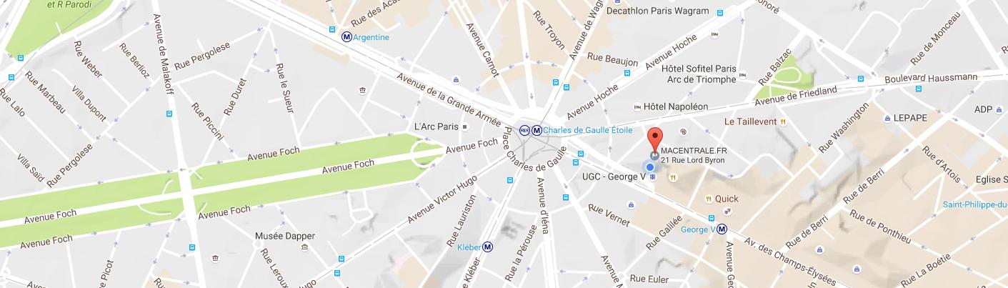 Macentrale.fr - Carte - Map - Bureau - Macentrale.fr - Centrale - Achat - Fournisseur - Place de l'étoile - Charles de Gaulle Etoile -