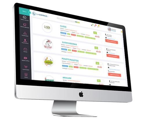 Macentrale.fr Vision de la nouvelle interface de gestion de produit achat du logiciel Macentrale.fr pour une centrale - informations marchés fournisseurs et acheteurs - Liste de fournisseurs - Centrale - Achat - Fournisseur - pour ma CentraleFr -
