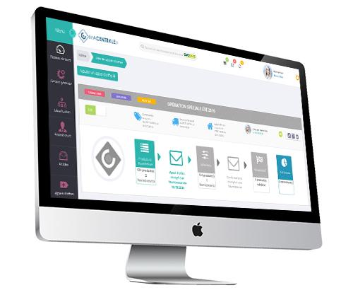 Macentrale.fr Aperçu de l'interface de l'operation achat du logiciel Macentrale.fr pour une centrale - achateur et fournisseur - Operation achat - Centrale - Achat - Fournisseur - pour ma CentraleFr -