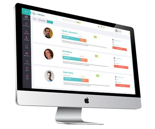 Macentrale.fr Les acheteurs apparaissent dans un groupe ou les fournisseurs suive l'activité de la centrale achat en ligne - Les utilisateur du logiciel ma centrale fr